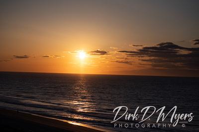 Sunrise Over the Ocean on Myrtle Beach